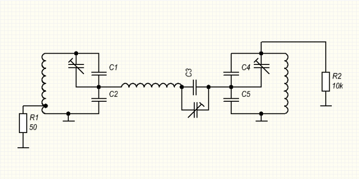 Итак, из приведенной схемы мы видим, что емкостной делитель, состоящий из двух конденсаторов, является емкостью...